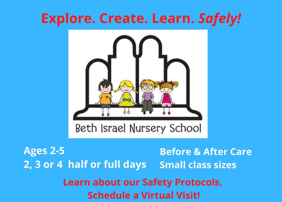 Now Enrolling for Beth Israel Nursery School